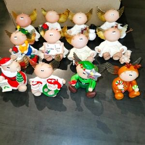 Vintage rare collection of angel cheeks 12 of them most are Christmas theme